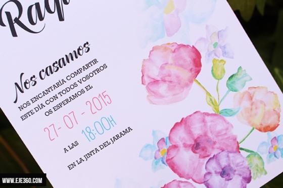 invitacion flor acuerela
